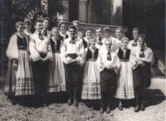 23.08.1959 Tanzgruppe beim Wettbewerb der Laienkünstler in Bukarest